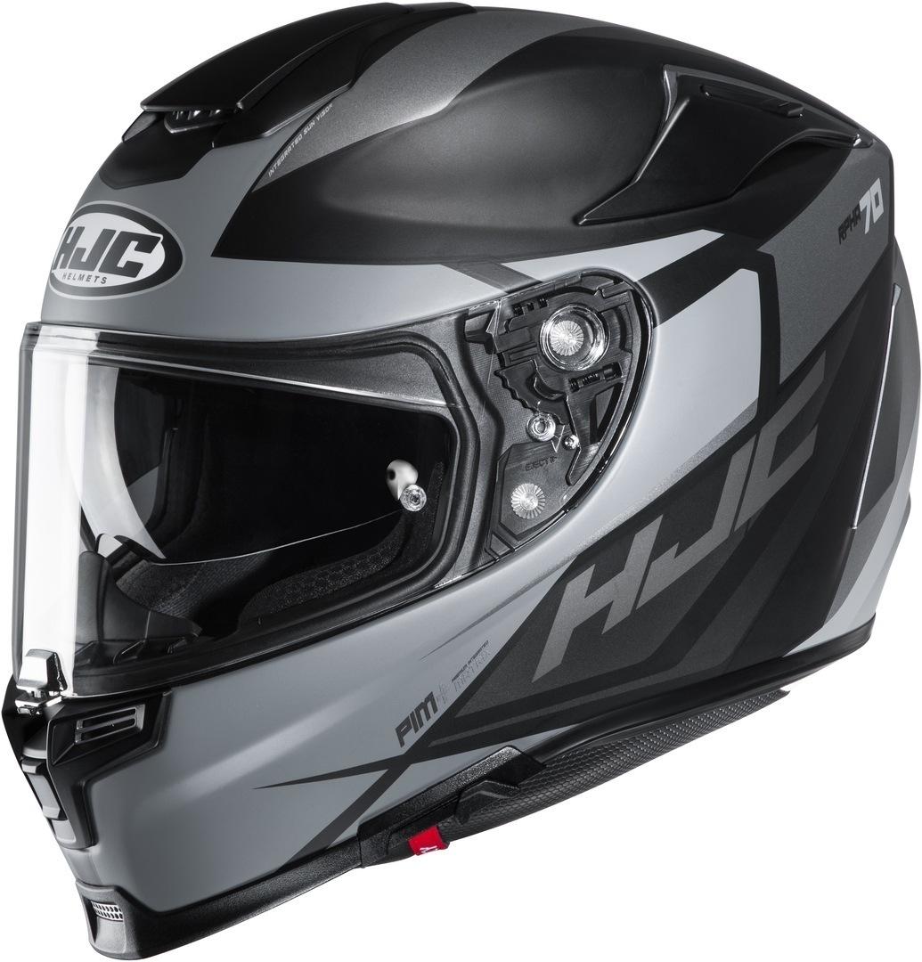 HJC RPHA 70 Sampra Helm, schwarz-silber, Größe XS 54 55, schwarz-silber, Größe XS 54 55