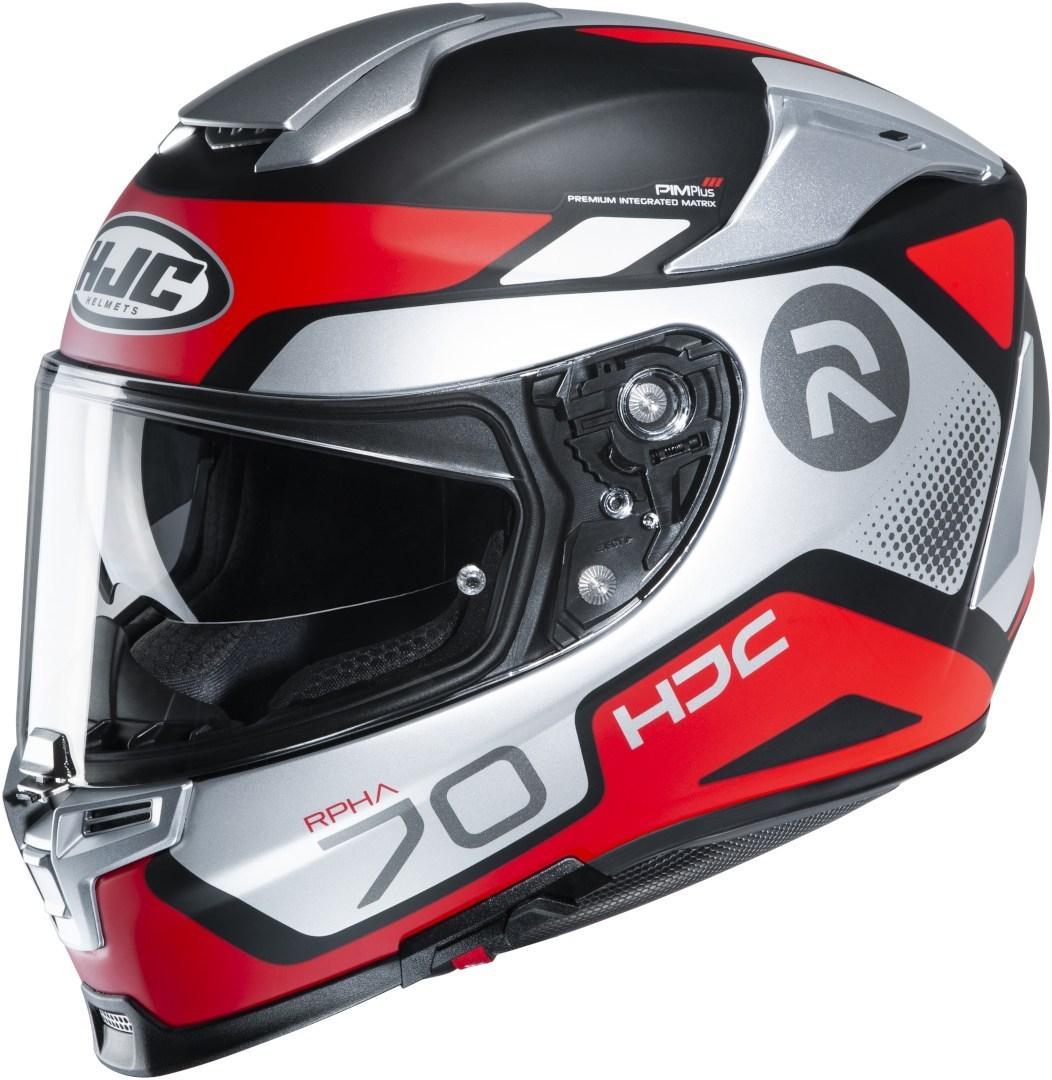 HJC RPHA 70 Shuky Helm, grau-weiss-rot, Größe XS 54 55, grau-weiss-rot, Größe XS 54 55