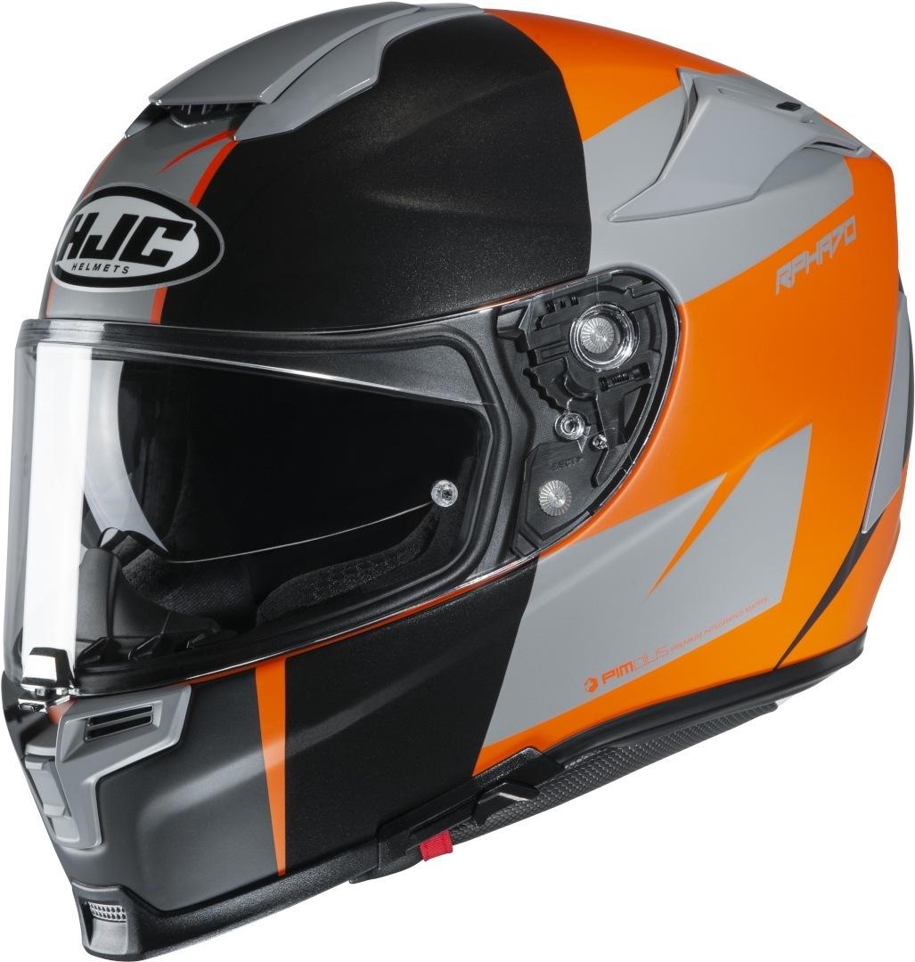 HJC RPHA 70 Terika Helm, schwarz-orange, Größe M, schwarz-orange, Größe M