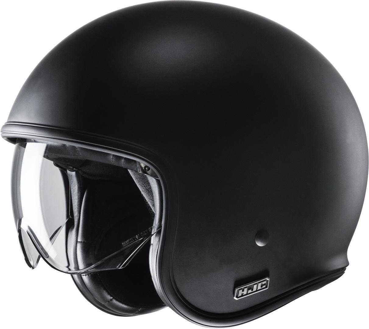 HJC V30 Jethelm, schwarz, Größe S, schwarz, Größe S