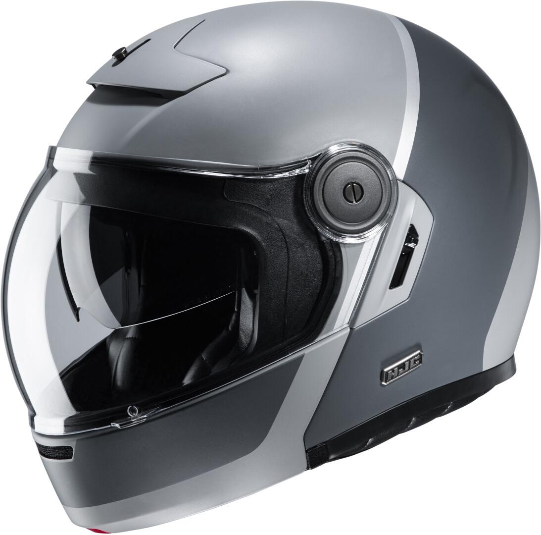 HJC V90 Mobix Klapphelm, schwarz-grau, Größe 2XL, schwarz-grau, Größe 2XL